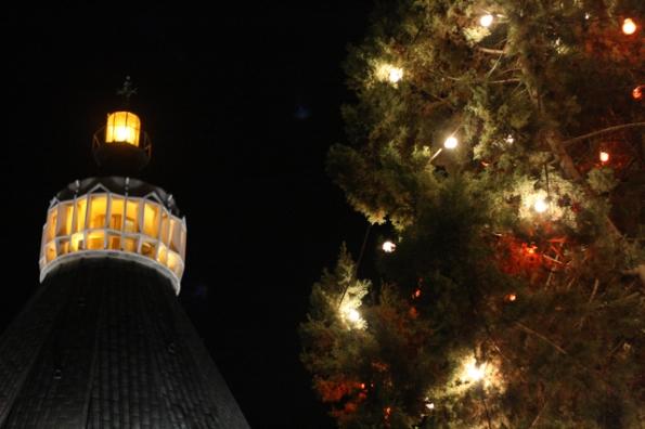כנסיית הבשורה בנצרת ערב חג המולד